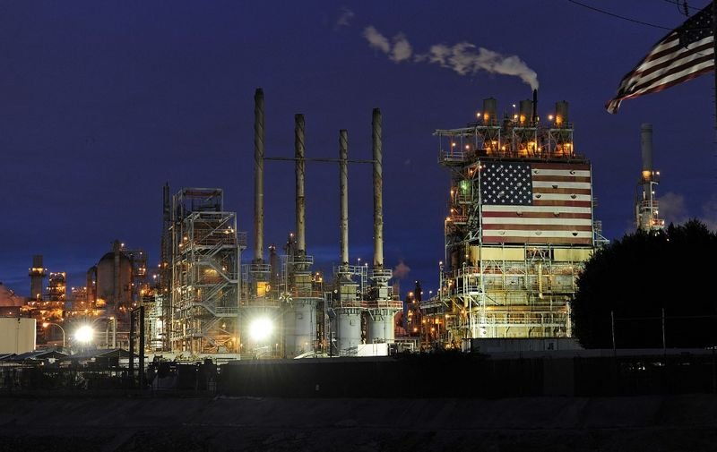 A view of the British Petroleum (BP) Carson refinery in Carson, California, March 2, 2011.  The refinery, located 18 miles (29 km) south of Los Angeles on 630 acres, supplies approximately 20 percent of the Southern California gasoline market and 50 percent of the jet fuel to the Los Angeles International Airport, according to the company.  The price of crude oil jumped to above USD102 a barrel as violent clashes in Libya between leader Moamer Kadhafi's forces and the opposition stoked concerns about the country's oil production.  AFP PHOTO / ROBYN BECK (Photo by ROBYN BECK / AFP)