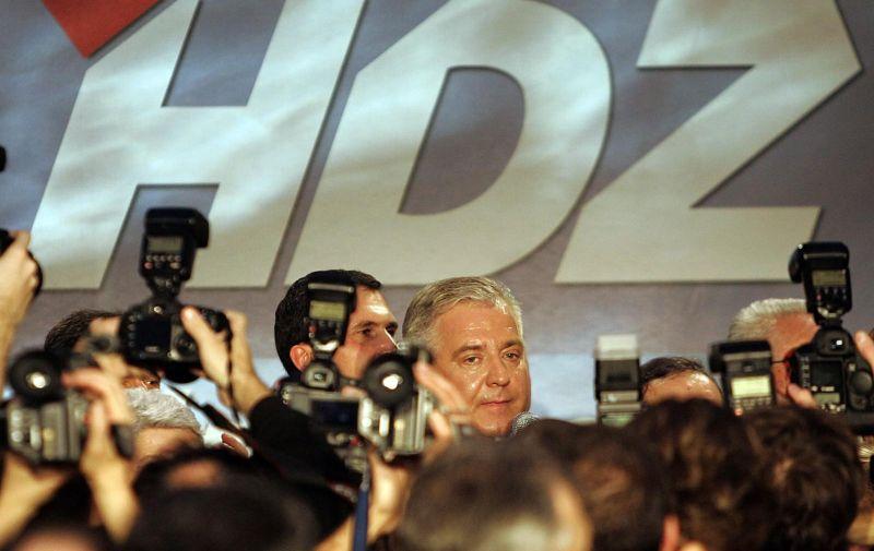 25.11.2007., Zagreb - Clanovi i simpatizeri HDZ-a izborne rezultate pratili su u izbornom stozeru koji je bio smjesten u muzeju Mimara.  Ivo Sanader. Photo: Jurica Galoic/PIXSELL