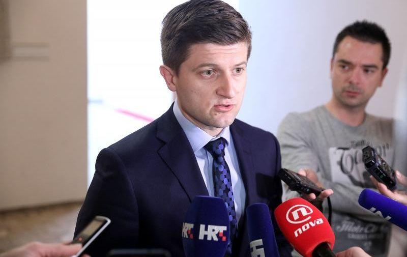 31.03.2017., Zagreb - Ministar Zdravko Maric dao je izjavu za medije nakon sjednice kluba zastupnika HDZ-a. Photo: