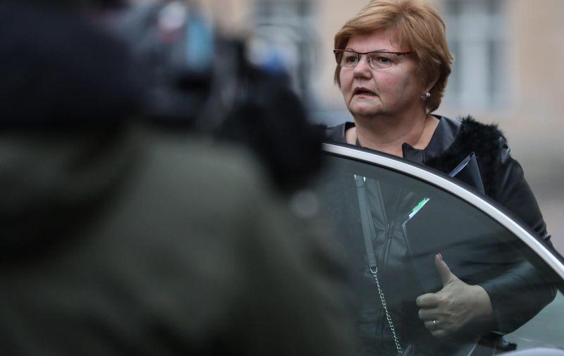Zagreb: Dolazak ministara na sjednicu Vlade RH 20.12.2018., Zagreb - Dolazak ministara na sjednicu Vlade RH. Nada Murganic  Photo: Jurica Galoic/PIXSELL