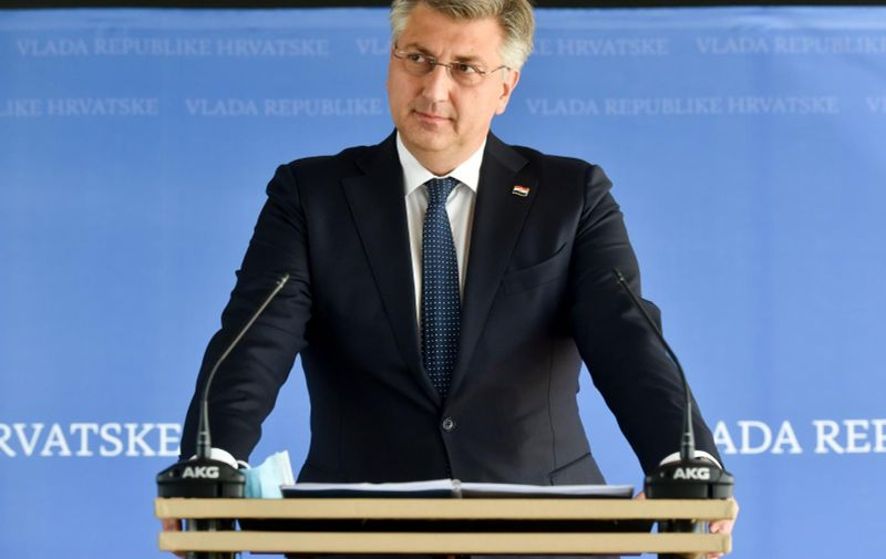 01.06.2021., Zagreb - Predsjednik Vlade Andrej Plenkovic odrzao konferenciju za medije nakon sastanka vladajuce koalicije. Photo: Davorin Visnjic/PIXSELL