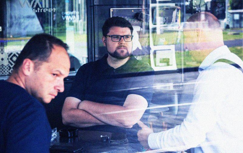 18.07.2020., Zagreb - Sjednica Glavnog odbora SDP-a u Hotelu International. Pedja Grbin, Sinisa Hajdas Doncic, Zeljko Kolar. Photo: Davor Puklavec/PIXSELL