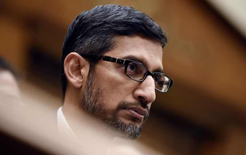 Google CEO Sundar Pichai testifies before the House Judiciary Committee on Capitol Hill December 11, 2018 in Washington, DC.,Image: 402111387, License: Rights-managed, Restrictions: , Model Release: no