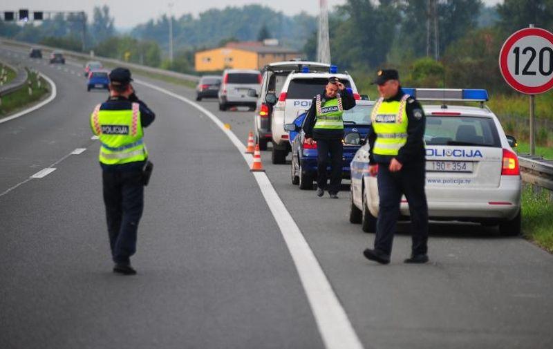 15.09.2013., Zagreb - Na autocesti A2, u naletu automobila smrtno stradao pjesak. Photo: Daniel Kasap/PIXSELL