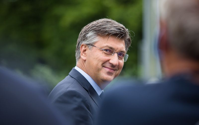 Croatian Prime Minister Andrej Plenkovic arrives at the 15th Bled Strategic Forum. European leaders met at the annual strategic forum in Bled to discuss Europe after Brexit and COVID-19 pandemic. The annual strategic forum in Bled, Slovenia - 31 Aug 2020,Image: 555624158, License: Rights-managed, Restrictions: , Model Release: no, Credit line: Profimedia
