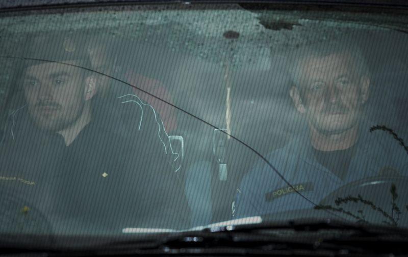 08.04.2016., Zagreb - Privodjenje osumnjicenih povezanih sa kradjom zlatoa i pranjem novca u USKOK. Photo: Marko Lukunic/PIXSELL