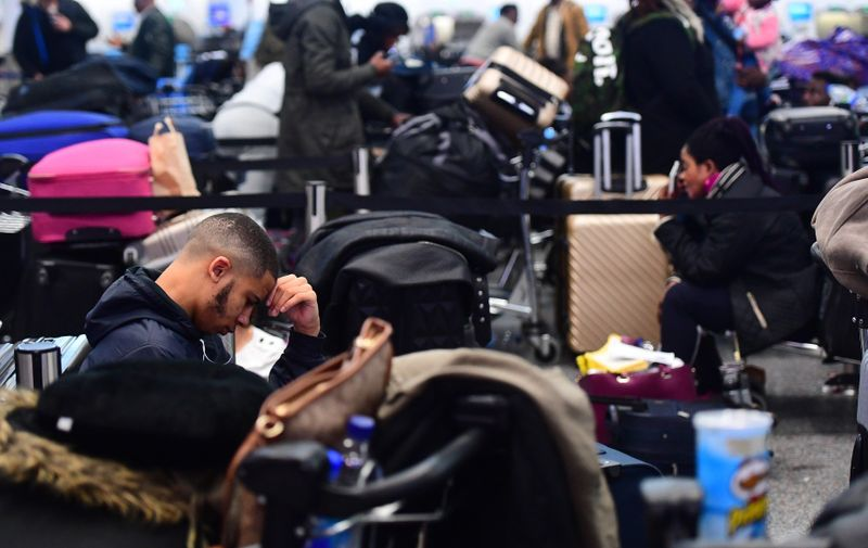Passengers stranded at Gatwick airport which has been closed after drones were spotted over the airfield last night and this morning., Image: 403673520, License: Rights-managed, Restrictions: , Model Release: no, Credit line: Profimedia, Press Association