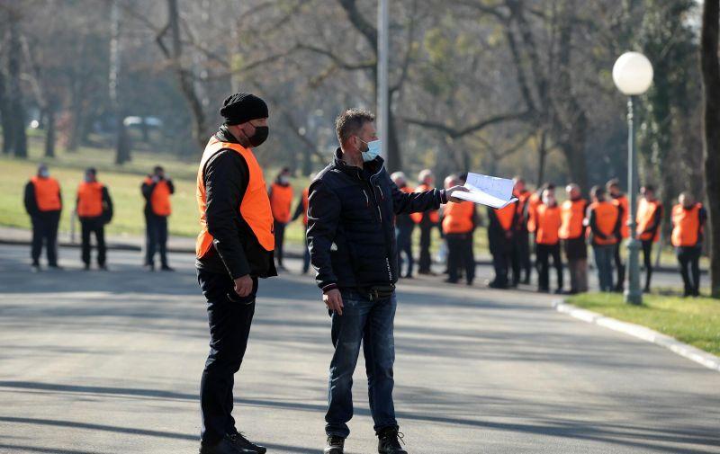 03.03.2021., Zagreb - Posljednji ispracaj gradonacelnika Milana Bandica na groblju Mirogoj. Photo: Goran Stanzl/PIXSELL