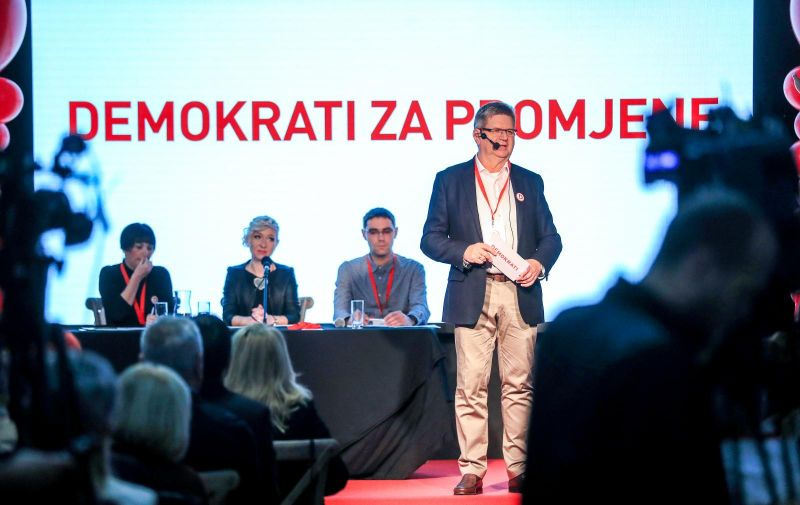 20.10.2018., Zagreb - U bivsoj tvornici Katran predstavljena nova politicka stranka Demokrati na celu s Mirandom Mrsicem. Photo: Slavko Midzor/PIXSELL