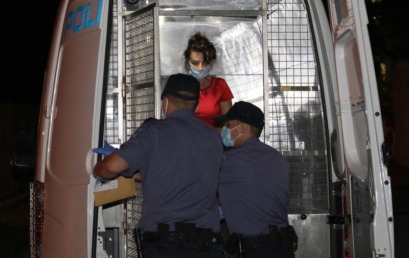 26.06.2020., Pula - Privodjenje osobe na Zupanijsko drzavno odvjetnistvo optuzene za ubojstvo 91-godisnje starice u Puli. Photo: Srecko Niketic/PIXSELL