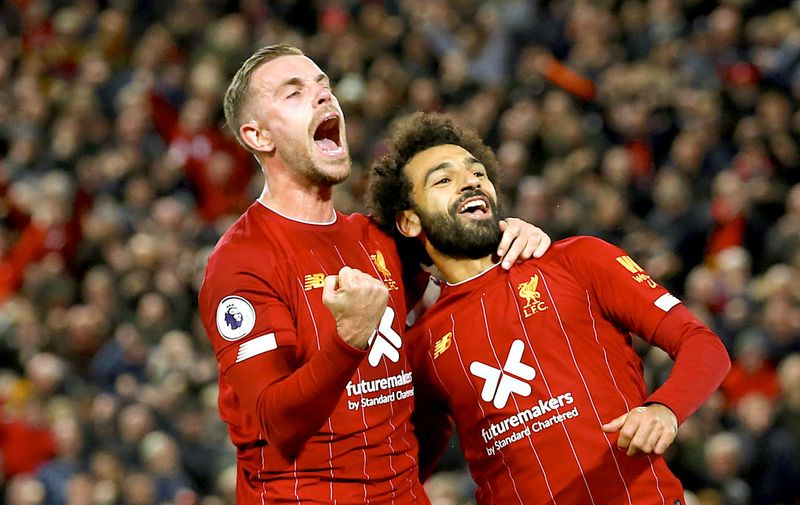 LIVERPOOL, ENGLAND - OCTOBER 27: during the Premier League match between Liverpool FC and Tottenham Hotspur at Anfield on October 27, 2019 in Liverpool, United Kingdom. (Photo by Jan Kruger/Getty Images)