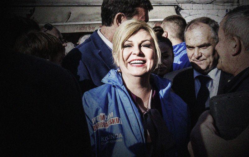 08.12.2019.,Imotski - Predsjednica Kolinda Grabar Kitarovic druzila se s gradjanima Photo: Miroslav Lelas/PIXSELL