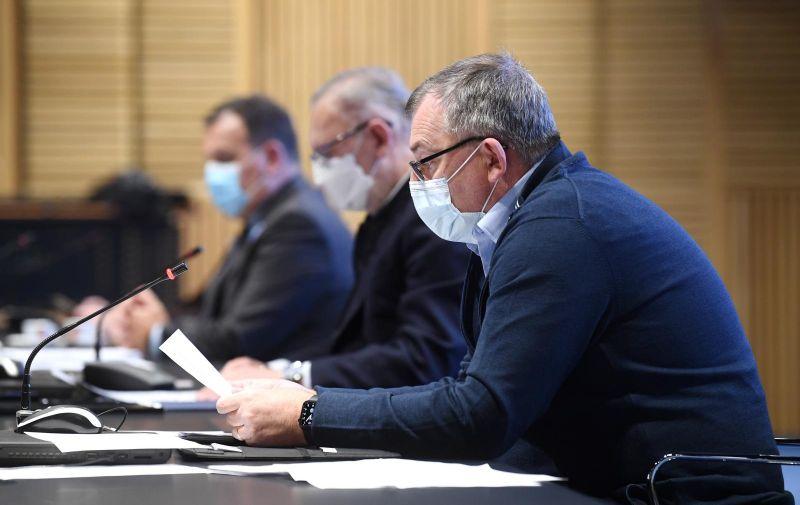 25.01.2021., Zagreb - Stozer civilne zastite odrzao konferenciju za medije u zgradi NSK. Krunoslav Capak Photo: Marko Lukunic/PIXSELL