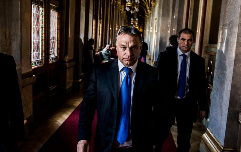 Prime Minister Viktor Orban arrives for a Parliament session in Budapest, Hungary, Oct. 20, 2014. In the 25 years since the collapse of communism, Orban has come to question Western values, foment nationalism and look more openly at Russia as a model., Image: 210341156, License: Rights-managed, Restrictions: , Model Release: no, Credit line: Profimedia, New York Times