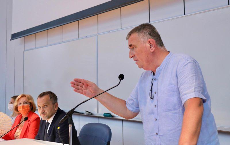 16.08.2021., Split - U trecem pokusaju konstituirana Skupstina Splitsko-dalmatinske zupanije i za predsjednika izabran Mate Simundic. Photo: Ivo Cagalj/PIXSELL