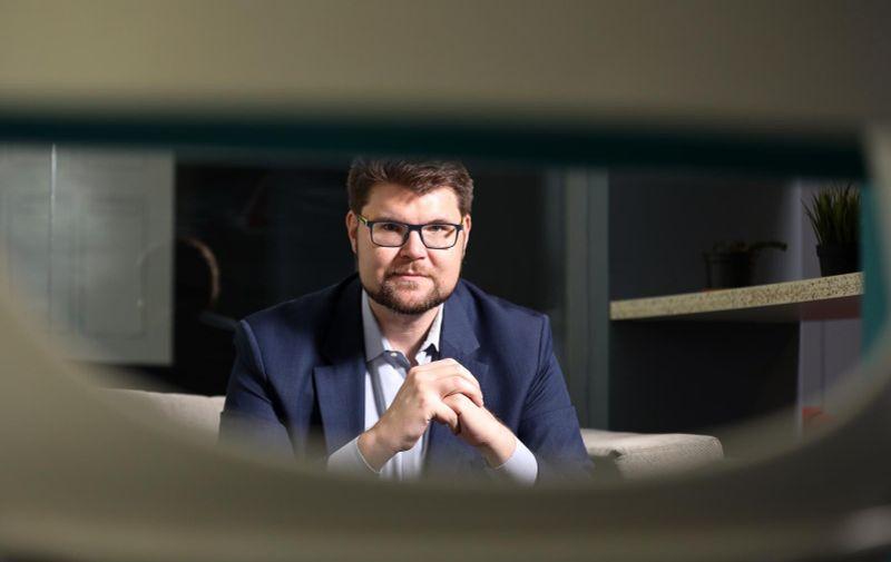 27.07.2021., Zagreb - Pedja Grbin, predsjednik SDP-a. Photo: Emica Elvedji/PIXSELL