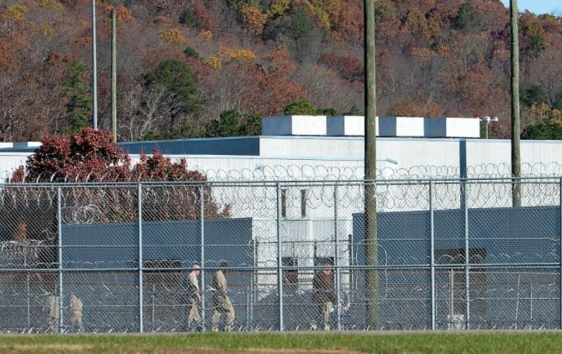 BUTNER, NC - NOVEMBER 20: The fence around the federal prison in Butner, North Carolina where convicted Israel spy Jonathan Pollard was released from is seen on November 20, 2015 in Butner, North Carolina. Pollard, 61, spent 30 years in prison after being caught selling American intelligence secrets to Israel. The prison camp houses three levels of security on the multi-building Federal Correctional Institute campus.   Sara D. Davis/Getty Images/AFP