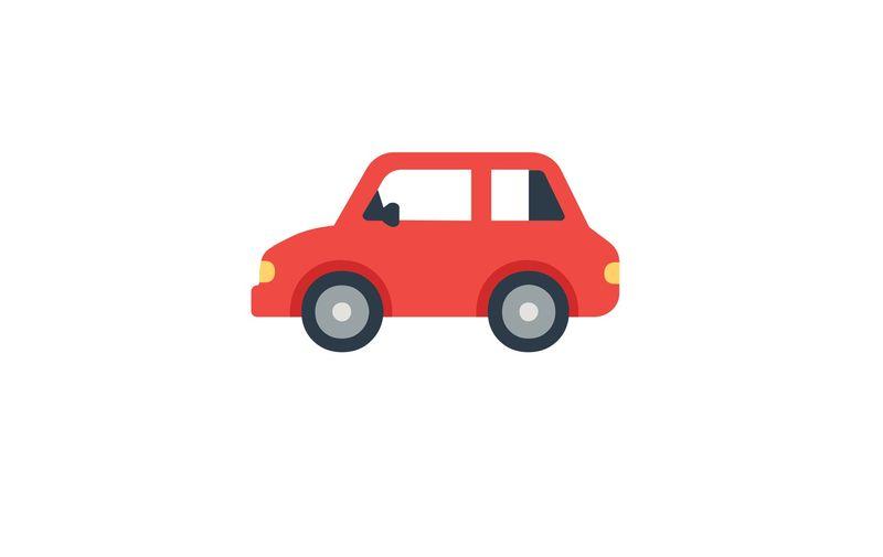 Automobile Flat Vector Icon. Isolated Car Emoji, Emoticon Illustration Symbol - Vector