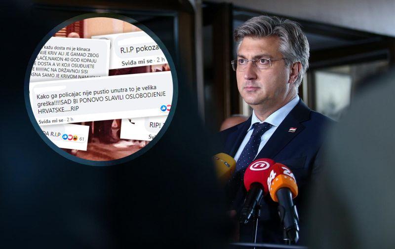 19.10.2020., Zagreb - Zajednicka sjednica Predsjednistva i Nacionalnog vijeca HDZ-a. Andrej Plenkovic. Photo: Matija Habljak/PIXSELL