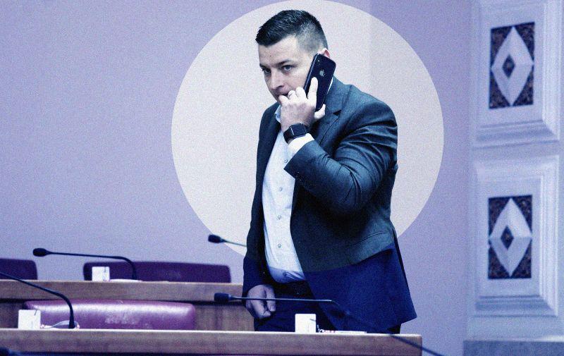 Zagreb: Sabor nastavio sjednicu raspravom o zemljišnim knjigama 29.03.2019., Zagreb - Sabor 11. sjednicu nastavlja  raspravom o Prijedlogu zakona o zemljisnim knjigama. Mato Cicak. Photo: Patrik Macek/PIXSELL