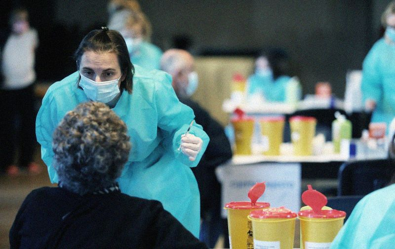 06.03.2021.; Rijeka - U sportskom centru Zamet pocelo je masovno cijepljenje gradjana protiv virusa COVID-19.; Photo: Goran Kovacic/PIXSELL