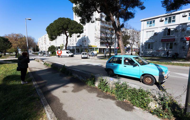 23.04.2021.Zadar-  Mjesto na kojem je pretucen maloljetnik u Zadru. Photo: Marko Dimic/PIXSELL