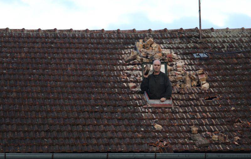 29.12.2020., Sisak- Nakon potresa ljudi su ostali bez svojih kuca. Photo: Boris Scitar/Vecernji list/PIXSELL
