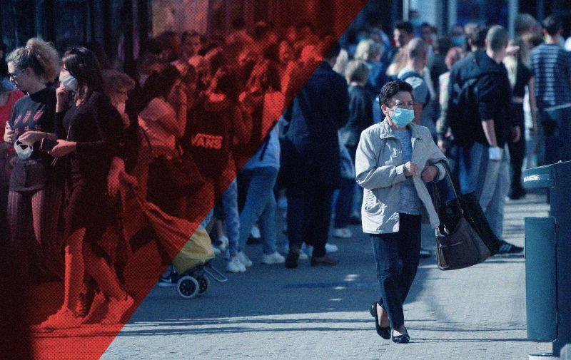 08.10.2020., Zagreb. U posljednja 24 sata zabiljezena su 542 nova slucaja zaraze virusom SARS-CoV-2 te je broj aktivnih slucajeva u Hrvatskoj danas ukupno 2206. Photo: Sanjin Strukic/PIXSELL