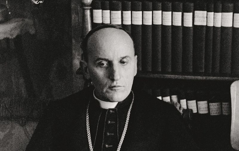 7-L6-Z52-06-02-18 (618255) ORIGINAL: Cardinal Alojzij Stepinac in his hometown of Krasic, Croatia.In a trial in 1946,the cardinal was sentenced to a prison term for high treason;he was exiled to Krasic in 1951, where he worked as deputy-parish priest. Krasic,Croatia,1951., Image: 147868023, License: Rights-managed, Restrictions: , Model Release: no, Credit line: Profimedia, AKG