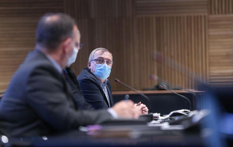 17.03.2021., NSK, Zagreb - Stozer civilne zastite odrzao redovnu konferenciju za medije o koronavirusu. Photo: Zeljko Lukunic/PIXSELL