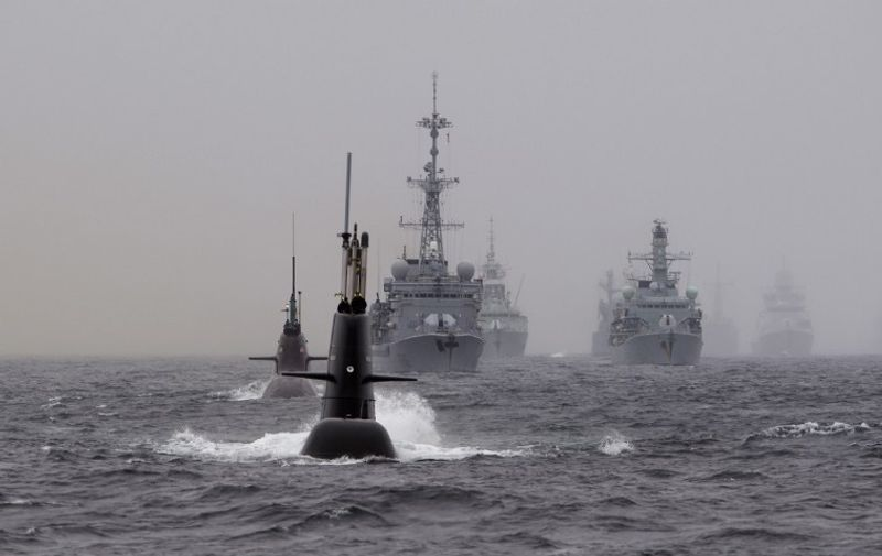 NATO's Dynamic Mongoose anti-submarines exercise in the North Sea, off the coast of Norway, on May 4, 2015. AFP PHOTO  / NTB SCANPIX / Marit Hommedal  +++ NORWAY OUT / AFP / NTB SCANPIX / Marit Hommedal