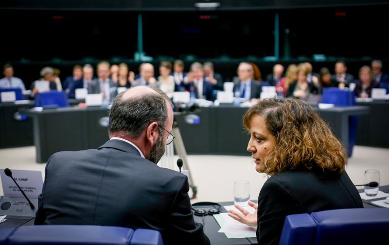 Manfred Weber, Iratxe Garcia Perez Conference Of Presidents, Strasbourg, France - 28 Nov 2019, Image: 485306521, License: Rights-managed, Restrictions: , Model Release: no, Credit line: Isopix / Shutterstock Editorial / Profimedia