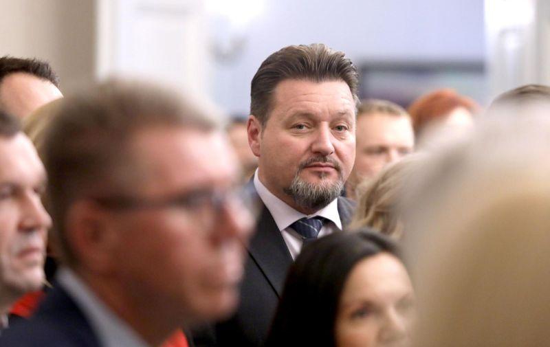13.12.2019., Zagreb - Sabor je je glasovanjem zakljucio 15. sjednicu i zastupnici su otisli na zimsku stanku koja traje najmanje do 15. sijecnja iduce godine. nakon zavrsetka sjednice zastupnici, novinari i djelatnici Sabora okupili su se na Bozicnom domjenku. Photo: Patrik Macek/PIXSELL
