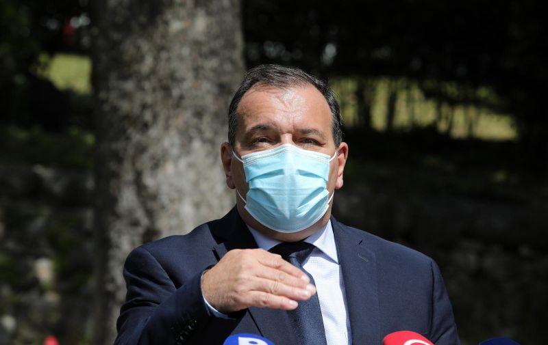 17.04.2021., Rijeka - Ministar zdravstva Vili Beros u posjetu KBC-u Rijeka. Photo: Goran Kovacic/PIXSELL