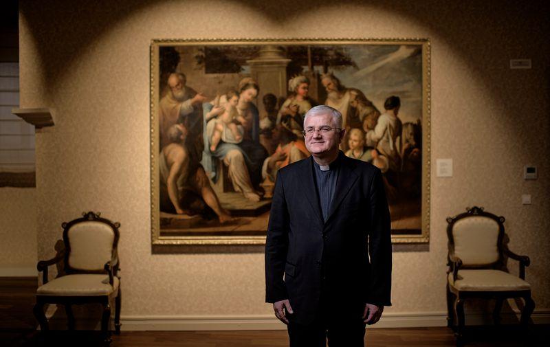 Biskup Uzinić, snimljen prije desetak dana u dubrovačkoj rezidenciji