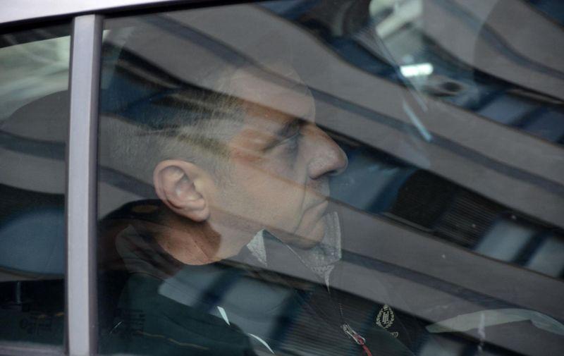 26.03.2019., Pula - Privodjenje bivseg predsjednika Uprave Uljanika Giannia Rossande.  Photo: Goran Kovacic/PIXSELL