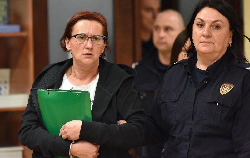 27.11.2019., Varazdin - Nastavak sudjenja Smiljani Srnec zbog ubojstva sestre Jasmine.   Photo: Vjeran Zganec Rogulja/PIXSELL
