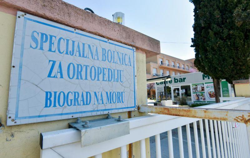 10.04.2020., Biograd - Specijalna bolnica za ortopediju Biograd na Moru Photo: Dino Stanin/PIXSELL