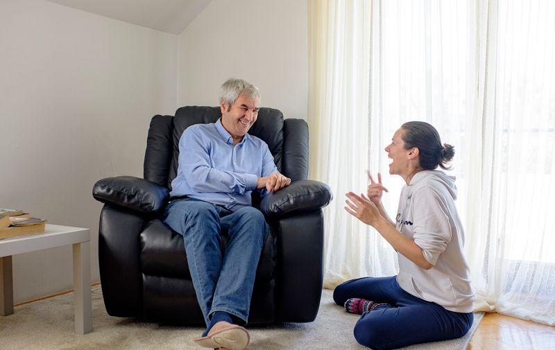 Nives i njezin tata Miroslav u svom zagrebačkom domu