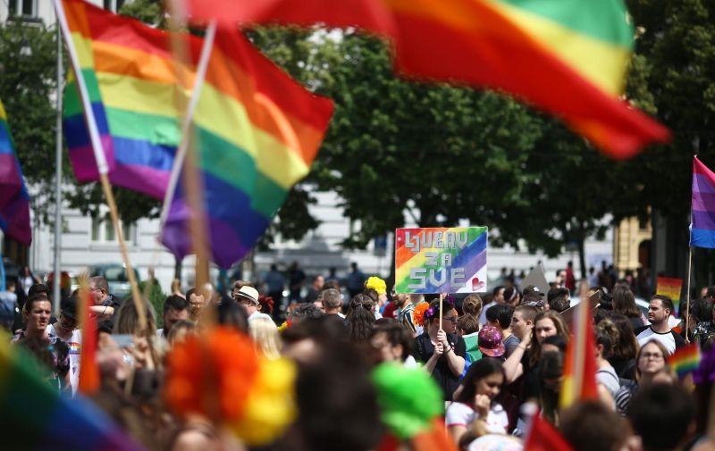 09.06.2018., Zagreb - Drustveni i politicki skup Povorka ponosa LGBTIQ osoba Zagreb Pride 2018. pod sloganom Da nam zivi, zivi rod. Photo: Igor Soban/PIXSELL