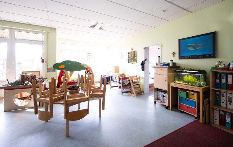 DINSLAKEN, GERMANY - MARCH 16:  An empty group room of a kindergarten is pictured on the first day of the kindergarten and school's temporary closure as part of nationwide measures to stem the spread of the coronavirus on March 16, 2020 in Dinslaken, Germany. Schools, day care centers and universities are closing across Germany this week as the country grapples with the virus that so far has infected at least 5,800 people and killed 13. (Photo by Lars Baron/Getty Images)
