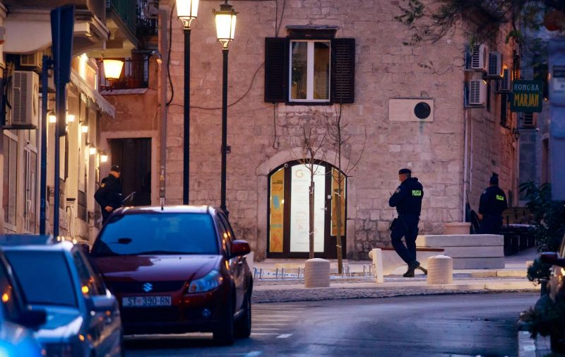 11.01.2020., U centru Splita, u blizini crkve svetog Frane u Radmilovicevoj ulici, upucan je muskarac, a nedugo nakon toga upucan je jos jedan muskarac na Sperunu. Photo: Milan Sabic/PIXSELL