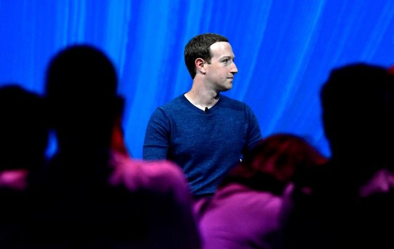 Facebook's CEO Mark Zuckerberg looks on before to deliver his speech during the VivaTech (Viva Technology) trade fair in Paris, on May 24, 2018. (Photo by GERARD JULIEN / AFP)