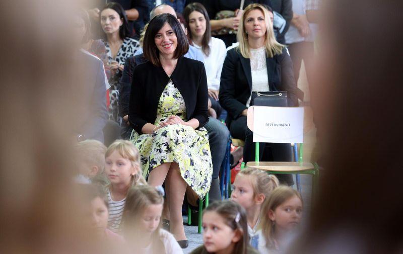 09.09.2019., Zagreb - Ministrica znanosti i obrazovanja Blazenka Divjak posjetila je Osnovnu skolu Gracani povodom uvodjenja reforme Skola za zivot. Photo: Marko Prpic/PIXSELL