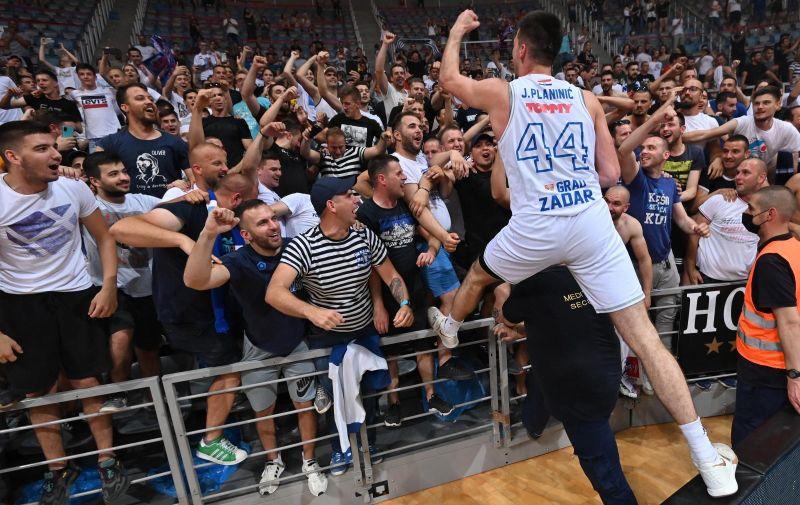 05.06.2021., Zadar - Pobjedom nad Splitom Zadar je osvojio Prvenstvo Hrvatske.  Photo: Dino Stanin/PIXSELL