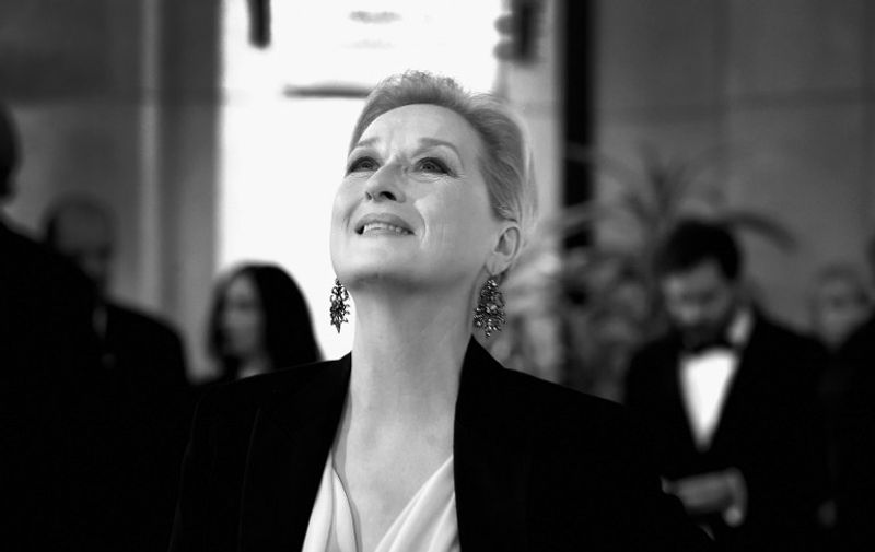 HOLLYWOOD, CA - FEBRUARY 22: Editors Note: (This image has been converted from color to B/W) Actress Meryl Streep arrives at the Hollywood & Highland Center on February 22, 2015 in Hollywood, California.