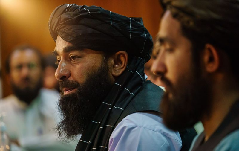 Zabihullah Mujahid, the Taliban spokesman for nearly 2 decades who worked in the shadows, makes his first-ever public appearance to address concerns about the Taliban' reputation with women's education, appearance and rights, television music and executions, during a press conference in Kabul, Afghanistan, Tuesday, Aug. 17, 2021. (MARCUS YAM / LOS ANGELES TIMES) TALIBAN PRESS CONFERENCE, Kabul, Kabul Province, Afghanistan - 17 Aug 2021,Image: 627532993, License: Rights-managed, Restrictions: , Model Release: no, Credit line: Profimedia