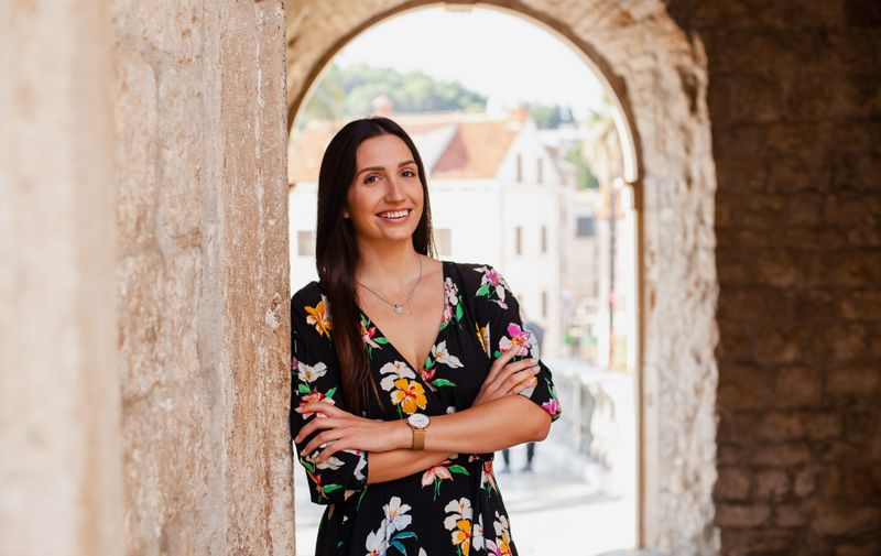 Marijana Kapor na vratima grada