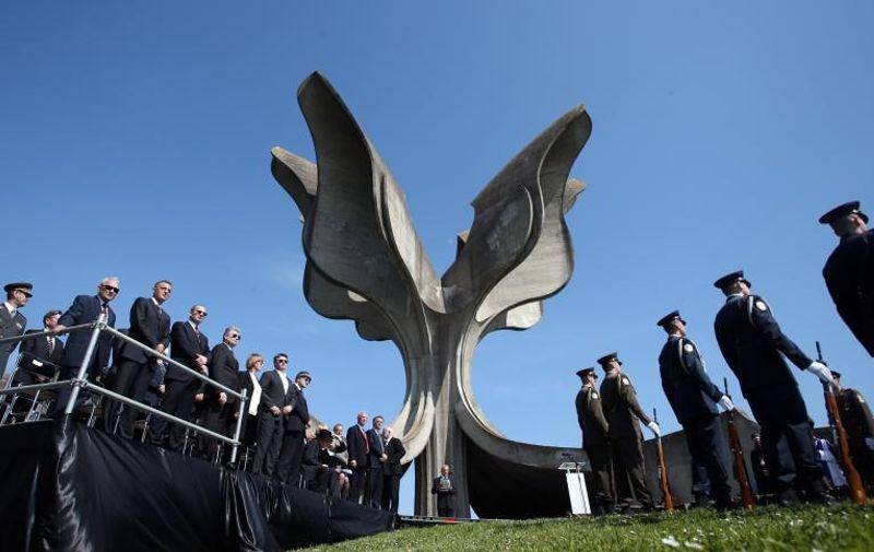 26.04.2015., Jasenovac - Komemoracija u znak sjecanja na 22. travnja 1945., dan proboja zatocenika iz koncetracijskog logora Jasenovac. Photo: Igor Kralj/PIXSELL
