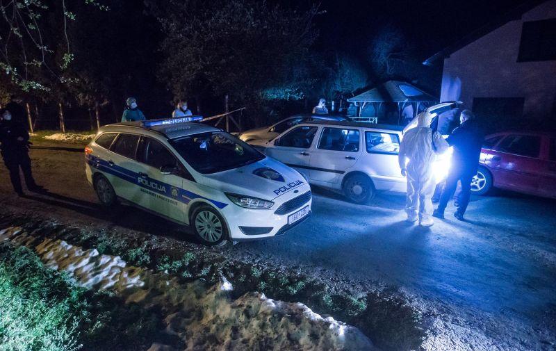 27.03.2020., Golenic - U selu Golenic pokraj Slatine dogodilo se tesko ubojstvo u kojem je ubijen jedan muskarac,policija na ocevidu. Photo: Davor Javorovic/PIXSELL